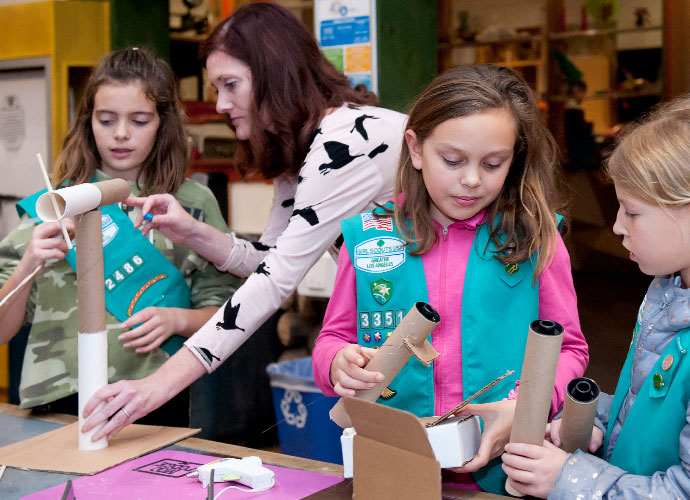 girl scouts at Kidspace