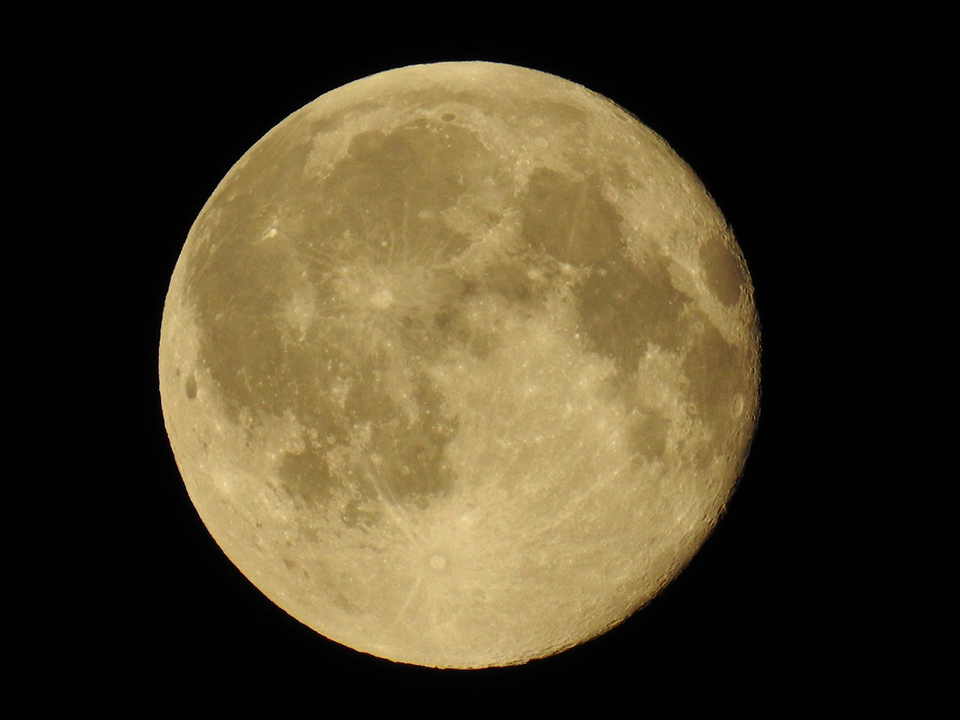 full moon with craters