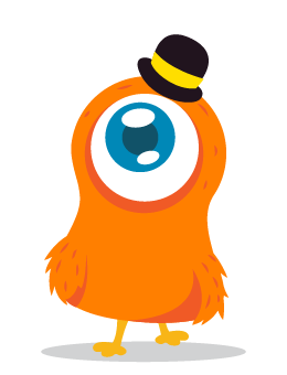 cute orange monster